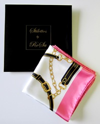 Stilettos by RoSa pink silk scarf