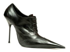 High heel stiletto Oxford lace-up shoe with black calf leather upper, leather lining and leather sole, made in Italy exclusively for RoSa Shoes.
