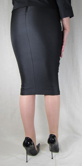 Hobble Skirt Knee Length - Suiting Twill