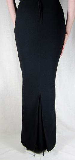 Hobble Skirt Full Length With Kick Pleat Crepe
