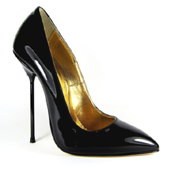 d1e672aeec70 High Heel Stiletto Semi-Pointed Toe Black Patent Leather £159.00 £119.00